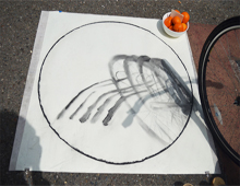 Radial Shadows @ the Parking Lot Art Fair, 2015